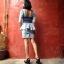 Vintage dress : ชุดยีนส์แพทเทิร์นเก๋มากค่ะ สม๊อคหลัง กระโปรงสอบ แต่งระบายช่วงเอว แขนสามส่วน thumbnail 3