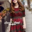 Seoul Secret Say's...Emerald Green Coral Red Layer Lace Dress thumbnail 1