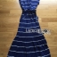 Lady Ribbon's Made Lady Ribbon Blue & White Stripe Pleatpleats Maxi thumbnail 7