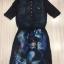 Cliona made'Space Trip Printing Long Shirt Dress thumbnail 7