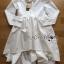 Lady Ribbon's Made Lady Jane Feminine Asymmetric Peplum Cotton Shirt Dress สีขาว thumbnail 5