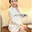 Lady Ribbon's Made Lady Nara Classic Striped High-Neck Lace Dress สีขาว thumbnail 2