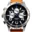 นาฬิกา NIXON Men Chronograph Chronograph Brown Leather Watch A3631602 48-20 thumbnail 1