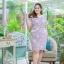 XL,3XL,5XL ชุดเดรสสาวอวบ++ผ้า Canvas TM พื้นม่วงลายดอก จุดเด่นของชุดนี้ ดีไซน์คอวีสุดเก๋ thumbnail 17