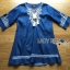 Lady Ribbon's Made Lady Claire Rich Embroidered Boho Cotton Dress สียีนส์ thumbnail 5