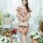 XL777ชุดเดรสผ้า Canvas พื้นส้มลายดอก แต่งปก กระเป๋า ติดโบว์ ผ้าสีขาว เพิ่มความน่ารักให้กับชุด thumbnail 10