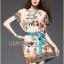 Lady Ribbon's Made Lady Marina Sweet Vintage Floral Printed Dress with Ribbon thumbnail 2