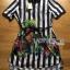 Lady Ribbon's Made Lady Marina Striped and Floral Printed Chiffon Shirt Dress thumbnail 5