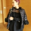 ชุดเดรสสั้น ผ้าฝ้ายเย็บด้วยผ้าลูกไม้ คอเต่า แขนยาว จั้มแขน สีดำ thumbnail 1