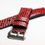 Metal Red Genuine Leather Back Lizard Leather Watch Strap Pam Buckle 24 mm thumbnail 5