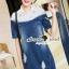 Seoul Secret Say's... Lacely Colar Denim Dress สีเข้ม thumbnail 5