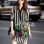 Lady Ribbon's Made Lady Marina Striped and Floral Printed Chiffon Shirt Dress thumbnail 1