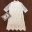 Korea Design By Lavida elegant see through daisy floral white lace dress thumbnail 7