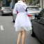Cliona made' Helena Luxury White Long Shirt Dress thumbnail 3