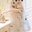 Korea Design By Lavida sweety floral printed feminine cream dress thumbnail 3