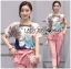 Lady Ribbon's Made Lady Margie Playful Printed Top and Pink Ribbon Pants Set thumbnail 5