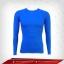 เสื้อรัดกล้ามเนื้อ แขนยาวคอกลม สีฟ้า mediumblue thumbnail 1