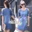 Dress jeans print stars dress Korea by Aris Code thumbnail 3