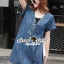 Seoul Secret Say's .... Sequinny V Furnish Denim Dress thumbnail 1