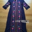 Lady Ribbon's Made Lady Lea Boho Colourful Flower Embroidered Midi Dress สีกรม thumbnail 5