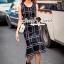 Seoul Secret Say's... Nifty Table Knity Dress สีดำ thumbnail 4