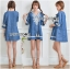 Lady Ribbon's Made Lady Claire Rich Embroidered Boho Cotton Dress สียีนส์ thumbnail 2