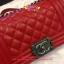 Chanel Boy สีแดง 8 นิ้ว thumbnail 7