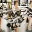 Seoul Secret Say's... Knitty Black Laf Beachy Dress thumbnail 6