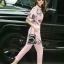 Sweet Bunny Present... Fan Print Zipper Top Pinky Pants Set With Belt thumbnail 3