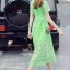 Korea Design By Lavida high quality luxury green lace long dress thumbnail 5
