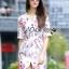 Lady Ribbon's Made Lady Pam Feminine Chinese Blossom Printed Dress thumbnail 2