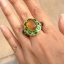 แหวนถมทอง ลายสุโขทัย ลงยา ประดับพลอย ลายดอกไม้ thumbnail 5
