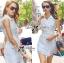 Lady Ribbon's Made Lady Natasha Sophisticated Sleeveless Lace Trench Shirt Dress thumbnail 3