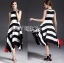 Lady Ribbon's Made Lady Clair Minimal Chic Bold Striped Asymmetric Dress thumbnail 3