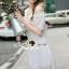 Seoul Secret Say's... Open Shoulder Pearly&Diamond Furnish Dress สีขาว thumbnail 2