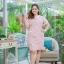XL,3XL,5XLชุดเดรสสาวอวบ++ผ้า Canvas TM พื้นชมพูลายดอก จุดเด่นของชุดนี้ ดีไซน์คอวีสุดเก๋ thumbnail 14
