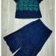 Sweet Bunny Present... Leaves Blue Lace Wide Pants Set thumbnail 5