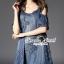 Seoul Secret Say's... Nifty Star Open Shoulder Denim Dress thumbnail 1
