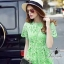Korea Design By Lavida high quality luxury green lace long dress thumbnail 2