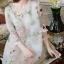 Korea Design By Lavida sweety floral printed feminine cream dress thumbnail 5