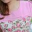 3 Size= XL,3XL,5XL ชุดเดรสสาวอวบ++ผ้า Sanfox พื้นขาว ทอลายดอกชมพู จุดเด่นของชุดนี้ตัดต่อด้านบน และแขนด้วยผ้า Hanako สีชมพู thumbnail 19