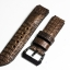 Brown Genuine Leather Horn Black Crocodile Leather Watch Strap Pam Buckle 24/20 mm thumbnail 2