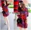 Lady Ribbon's Made Lady Jennifer Summery Vivid Color Graphic Printed Dress thumbnail 3