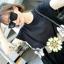 Sweet Bunny Present... Flower Waist Black Mini Dress thumbnail 6