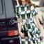 Cliona made' Grammy Square Line Shirt Dress thumbnail 1