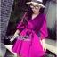 Lady Ribbon's Made Lady Stella Sexy Vivid Color Wrap Dress with Ribbon สีม่วง thumbnail 3