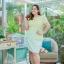 4 Size= M,L,XL,2XL ชุดเดรสเสื้อผ้าคอตตอลปักไหมญี่ปุ่นผ้านำเข้า สีเขียวปักฉลุสวยมาก แต่งระบายด้านข้างรอบสะโพก กระโปรงผ้า Varantino thumbnail 11