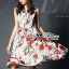 Lady Ribbon's Made Lady Lauren Colourful Polka Dots Red Flower Printed Dress thumbnail 1