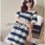 Lady Catherine Colourful Striped Lace Dress with Ruffled Sleeves thumbnail 3