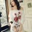 Seoul Secret Say's... Valent Rosey Smokking Dress thumbnail 2